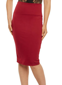 Ponte-Knit Pencil Skirt - 3062062415949