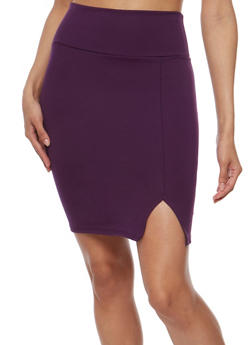 Front Slit Mini Pencil Skirt - 3062074011471