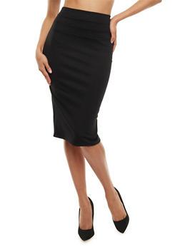 Ponte Knit Pencil Skirt - 3062074011483