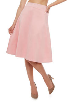 Solid Skater Skirt - 3062074011490