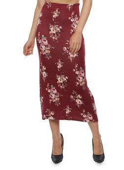 Floral Maxi Skirt - 3062074011493