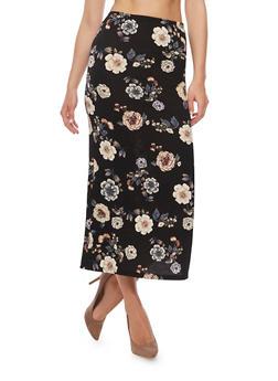 Floral Print Maxi Skirt - 3062074014941