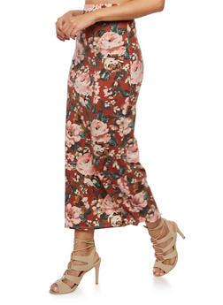 Floral Print Maxi Skirt - 3062074014944