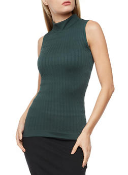 Sleeveless Cable Knit Sweater - 3064038342003