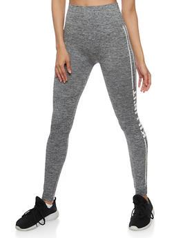 Side Striped Athletic Leggings - GRAY - 3066061631240