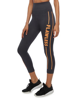 High Waisted Flawless Cropped Leggings - 3066062900703