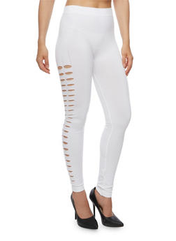 Solid Cut Out Leggings - 3066062905136