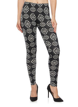 Leggings in Aztec Print - 3066062906201