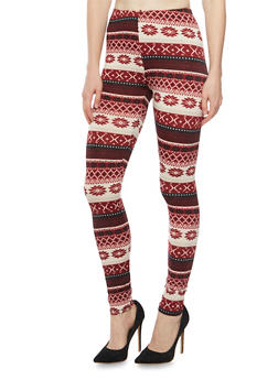 Leggings in Aztec Print - 3066062906226