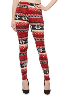 Leggings in Ikat Print - 3066062906263