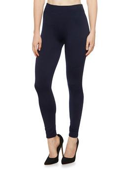 Leggings with Fleece Lining - 3069041459128