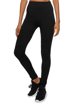 Solid Knit Leggings - 3069059162543