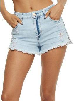 Almost Famous Frayed Denim Shorts - 3070015994029