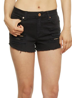 Almost Famous Cut Off Denim Shorts - 3070015994762