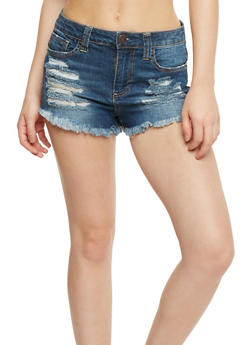Almost Famous Frayed Jean Shorts - 3070015994763