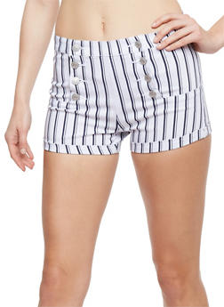 Printed Sailor Shorts - WHITE/NVY - 3070015999059