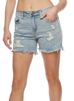Cello Destroyed Jean Shorts - 3070063155225