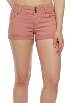 WAX Three Button Push Up Denim Shorts - 3070071610070