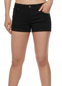 WAX Cuffed Push Up Denim Shorts - 3070071619023