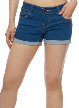 WAX Cuffed Push Up Denim Shorts - 3070071619023