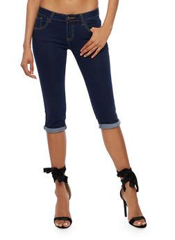 Cuffed Capri Jeans - 3073062701369