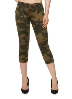 Camouflage Capri Joggers - 3073062708098