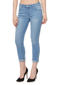WAX Push Up Denim Capri Pants - 3073071619002