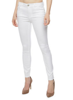 Almost Famous White Skinny Jeans - 3074015990125