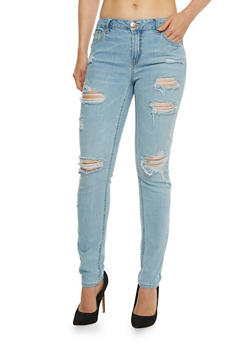 Almost Famous Destroyed Skinny Jeans - 3074015991211