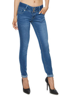 Almost Famous 3 Button Push Up Jeans - 3074015991444