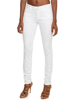 Almost Famous Skinny Jeans with Wide Waistband - 3074015991445