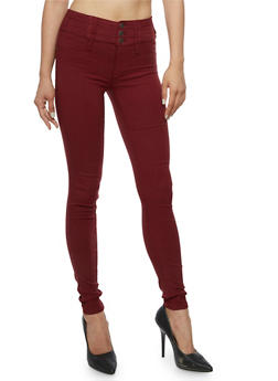 Almost Famous 3 Button Stretch Jeans - 3074015991580