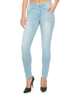 Almost Famous Skinny Jeans with Wide Waistband - 3074015991590