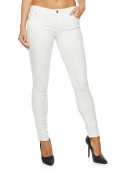 Stretch Skinny Pants - WHITE - 3074015991612