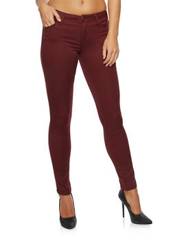 Stretch Skinny Pants - BURGUNDY - 3074015991612