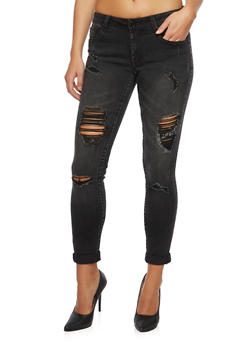 Almost Famous Distressed Skinny Jeans - 3074015991807
