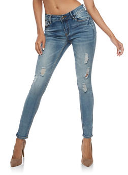 Almost Famous Ripped Skinny Jeans - 3074015993333