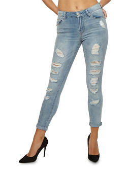 Almost Famous Destroyed Frayed Jeans - 3074015993838
