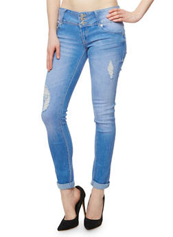 Almost Famous Distressed Push Up Skinny Jeans - 3074015994915