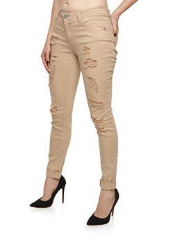 Almost Famous Destroyed Skinny Jeans - 3074015998072