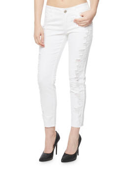 Almost Famous Destroyed Front Skinny Jeans - 3074015998379