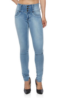 Three Button Washed Jeans - 3074041757624