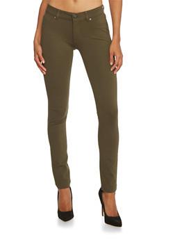 Stretch Fit Skinny Pants - 3074054210454