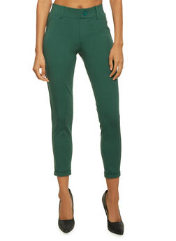 Tailored Pants with Fixed Cuffs - GREEN - 3074056570025