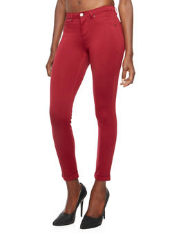 Stretch Jeggings with Fixed Cuffs - 3074056570150