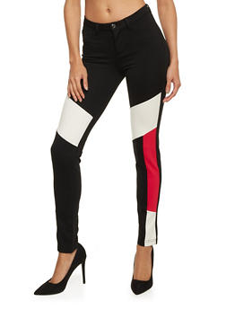 Color Block Jeggings - 3074056571113