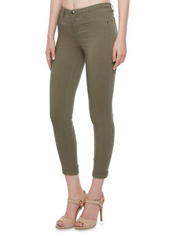 Solid Stretch Jeggings - OLIVE - 3074056571500