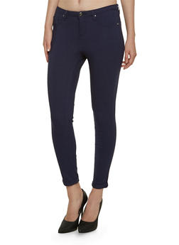 Solid Stretch Jeggings - 3074056571500