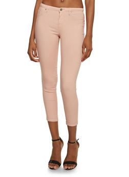 Solid Stretch Jeggings - ROSE - 3074056571500