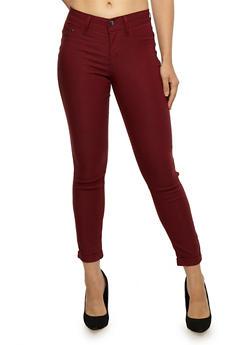 Push Up Stretch Knit Skinny Jeans - 3074056571991
